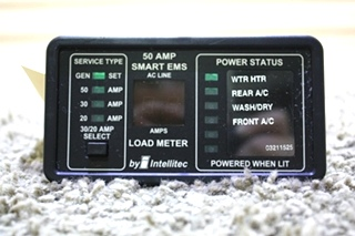 USED MOTORHOME INTELLITEC 50 AMP SMART EMS DISPLAY PANEL FOR SALE