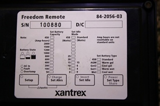 USED XANTREX FREEDOM REMOTE 84-2056-03 RV PARTS FOR SALE