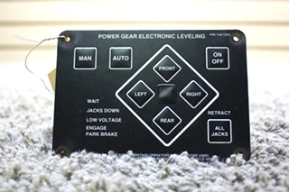 USED RV POWER GEAR LECTRONIC LEVELING TOUCH PAD 140-1226 FOR SALE