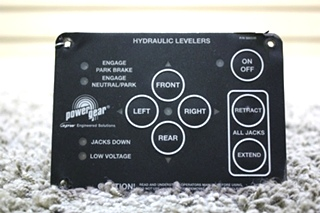 USED POWER GEAR HYDRAULIC LEVELERS 500535 TOUCH PAD FOR SALE