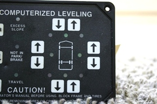 USED MOTORHOME HWH COMPUTERIZED LEVELING TOUCH PAD FOR SALE