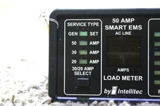 USED INTELLITEC 50 AMP SMART EMS DISPLAY 00-00684-100 RV PARTS FOR SALE