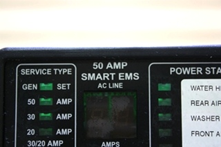USED 50 AMP SMART EMS BY INTELLITEC 00-00684-100 MOTORHOME PARTS FOR SALE