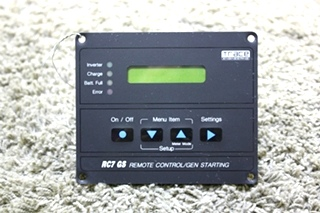 USED MOTORHOME TRACE ENGINEERING RC7 GS REMOTE CONTROL/GEN STARTING FOR SALE