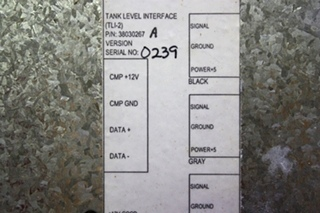 USED MOTORHOME TANK LEVEL INTERFACE (TLI-2) 38030267 FOR SALE