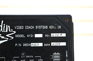 USED RV 38040423 ALADDIN VIDEO COACH SYSTEMS MONITOR FOR SALE