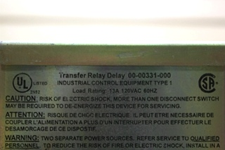 USED RV TRANSFER RELAY DELAY 00-00331-000 FOR SALE