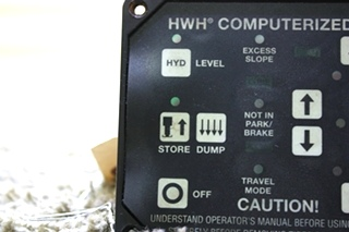 USED RV HWH COMPUTERIZED LEVELING TOUCH PAD AP25650 FOR SALE