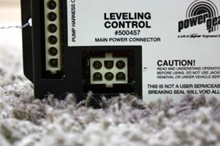 USED POWER GEAR 500457 LEVELING CONTROL BOARD RV PARTS FOR SALE