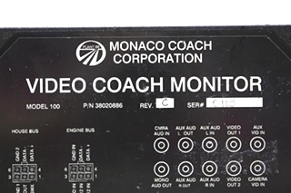 USED MONACO VIDEO COACH MONITOR 38020886 RV PARTS FOR SALE