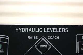 USED MOTORHOME MILWAUKEE CYLINDER HYDRAULIC LEVELERS TOUCH PAD 00-00309-000 FOR SALE