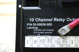 USED RV 00-00838-000 10 CHANNEL RELAY OUTPUT MODULE BY INTELLITEC FOR SALE