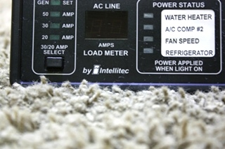 USED MOTORHOME INTELLITEC POWERLINE EMS DISPLAY PANEL 00-00757-000 FOR SALE