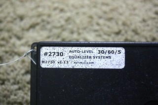 USED RV EQUALIZER SYSTEMS AUTO LEVEL #2730 FOR SALE