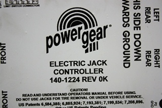 USED 140-1224 POWER GEAR ELECTRIC JACK CONTROLLER MOTORHOME PARTS FOR SALE