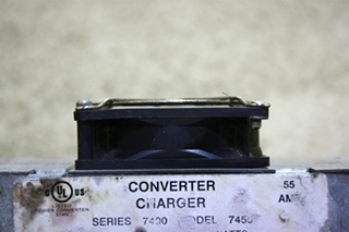 USED RV PARALLAX POWER COMPONENT MODEL: 7455 CONVERTER CHARGER FOR SALE