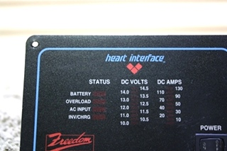 USED HEART INTERFACE FREEDOM REMOTE PANEL RV PARTS FOR SALE