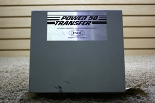USED MOTORHOME POWER 50 TRANSFER ES-50 AUTOMATIC GENERATOR-SHORELINE TRANSFER SWITCH FOR SALE