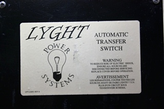 USED MOTORHOME LPT50BRD LYGHT POWER SYSTEMS AUTOMATIC TRANSFER SWITCH FOR SALE