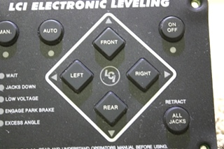 USED MOTORHOME LCI ELECTRONIC LEVELING TOUCH PAD 12478A FOR SALE