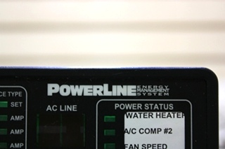 USED 00-00903-250 POWERLINE EMS BY INTELLITEC DISPLAY PANEL MOTORHOME PARTS FOR SALE