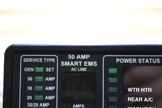 USED 50 AMP SMART EMS BY INTELLITEC 00-00684-100 DISPLAY PANEL FOR SALE