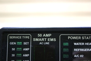 USED MOTORHOME 50 AMP SMART EMS BY INTELLITEC DISPLAY PANEL FOR SALE