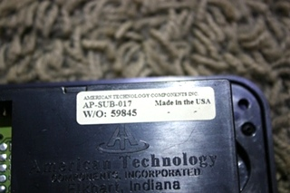 USED AMERICAN TECHNOLOGY DASH MOUNT COMPASS & TEMPERATURE SYSTEM PANEL AP-SUB-017 RV PARTS FOR SALE