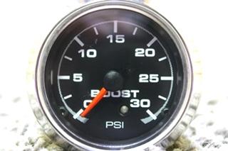 USED RV AIR PRESSURE 946072 BOOST PSI DASH GAUGE FOR SALE