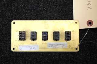 USED POSITRON CORP. 5 SWITCH WALL MOUNT PANEL SIZE: 6 x 3