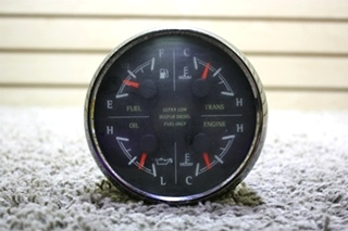 USED MOTORHOME MEDALLION 8653-5000629 4 IN 1 DASH GAUGE FOR SALE