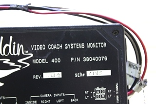 USED MOTORHOME ALADDIN VIDEO COACH SYSTEM MONITOR MODEL 400 38040076 FOR SALE