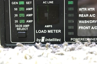 USED 50 AMP SMART EMS BY INTELLITEC DISPLAY PANEL 00-00684-100 MOTORHOME PARTS FOR SALE