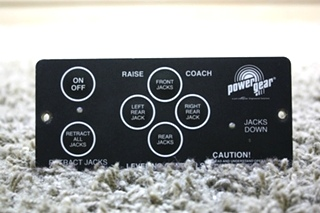USED RV POWER GEAR 500456 LEVELING TOUCH PAD FOR SALE