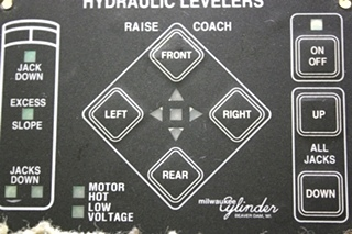 USED RV 00-00309-000 MILWAUKEE CYLINDER HYDRAULIC LEVELER TOUCH PAD FOR SALE