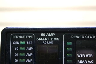 USED MOTORHOME 00-00684-100 50 AMP SMART EMS BY INTELLITEC DISPLAY PANEL FOR SALE
