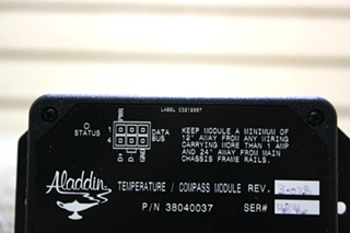 USED RV ALADDIN 38040037 TEMPERATURE / COMPASS MODULE FOR SALE