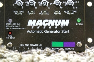USED MOTORHOME MAGNUM ENERGY AUTOMATIC GENERATOR START FOR SALE