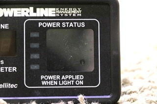 USED 00-00757-000 POWERLINE EMS BY INTELLITEC DISPLAY PANEL RV PARTS FOR SALE