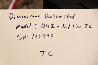 USED MOTORHOME DIMENSIONS UNLIMITED DUI-12/130TL INVERTER FOR SALE
