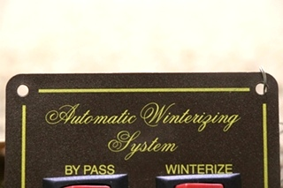 USED RV AUTOMATIC WINTERIZING SYSTEM SWITCH PANEL FOR SALE