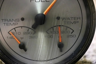 USED 3 IN 1 TRANS TEMP / WATER TEMP / FUEL RV DASH GAUGE FOR SALE