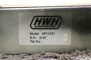 USED RV HWH LEVELING CONTROL BOX AP14721 WITH LEVELING SENSOR FOR SALE