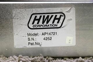 USED AP14721 HWH LEVELING CONTROL BOX WITH LEVELING SENSOR RV PARTS FOR SALE