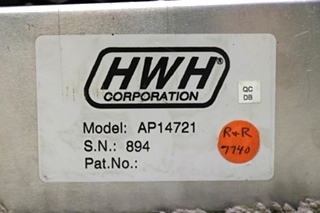USED HWH LEVELING CONTROL BOX AP14721 WITH LEVELING SENSOR MOTORHOME PARTS FOR SALE