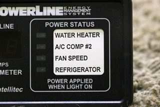 USED RV POWERLINE EMS BY INTELLITEC 00-00757-000 DISPLAY PANEL FOR SALE