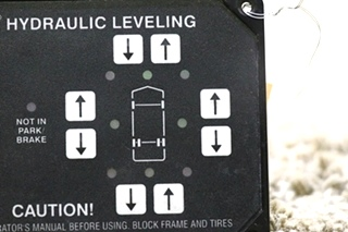 USED HWH HYDRAULIC LEVELING AP20007 TOUCH PAD MOTORHOME PARTS FOR SALE