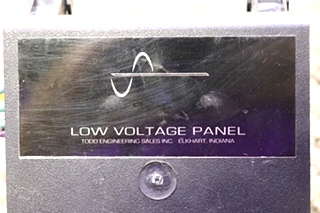 USED MOTORHOME TODD ENGINEERING LOW VOLTAGE PANEL FOR SALE