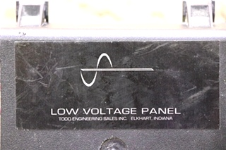 USED TODD ENGINEERING LOW VOLTAGE PANEL RV PARTS FOR SALE