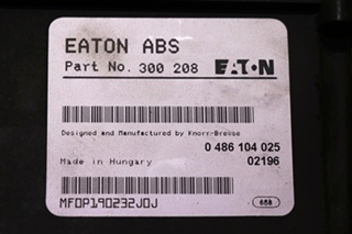 USED MOTORHOME PARTS / EATON ABS CONTROL BOARD 300208 FOR SALE